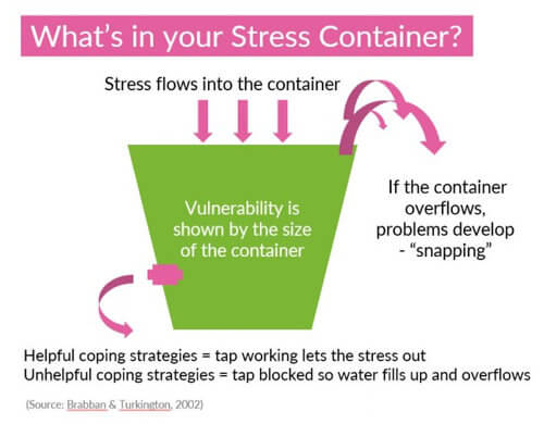 Wellbeing-stress-container